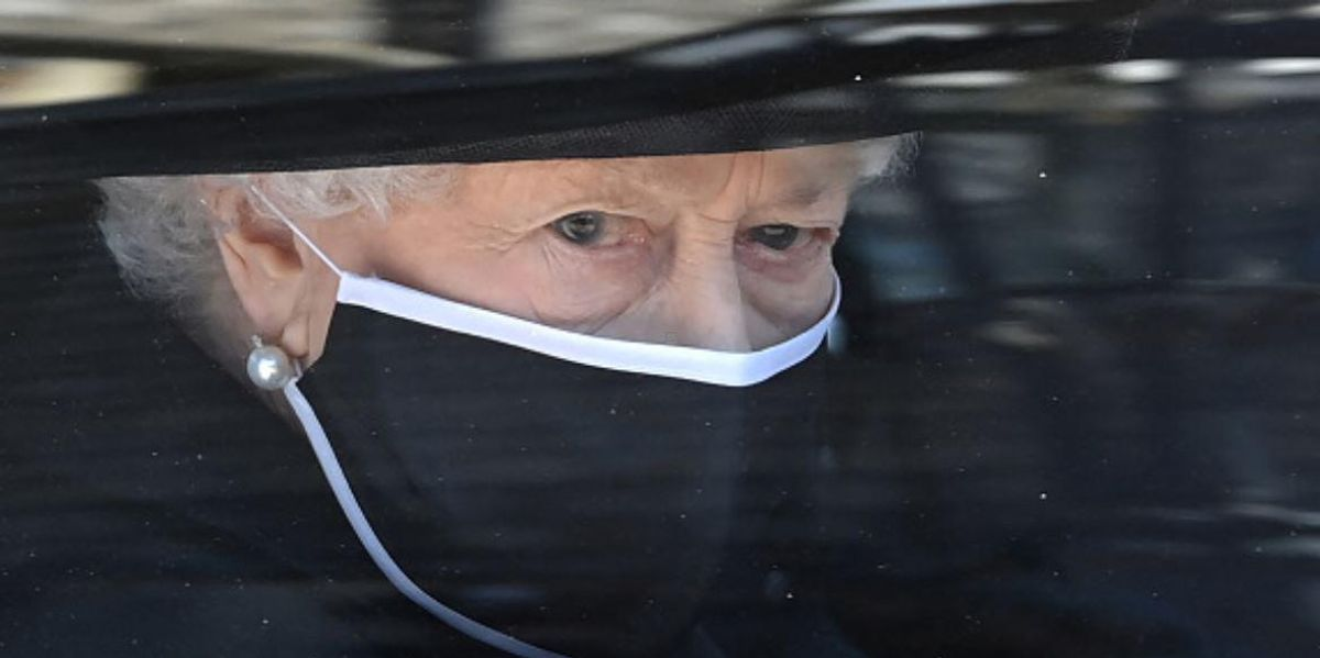 Queen With Tears in Her Eyes as She Sees Philip's Coffin at Funeral