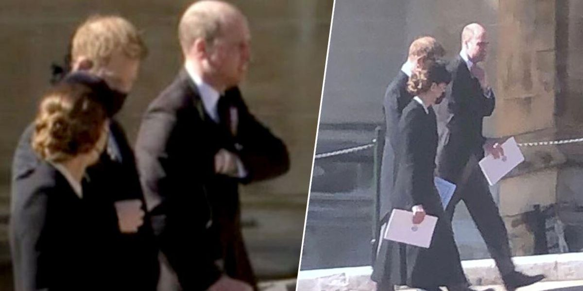 Prince Harry and William Leave Prince Philip's Funeral Together