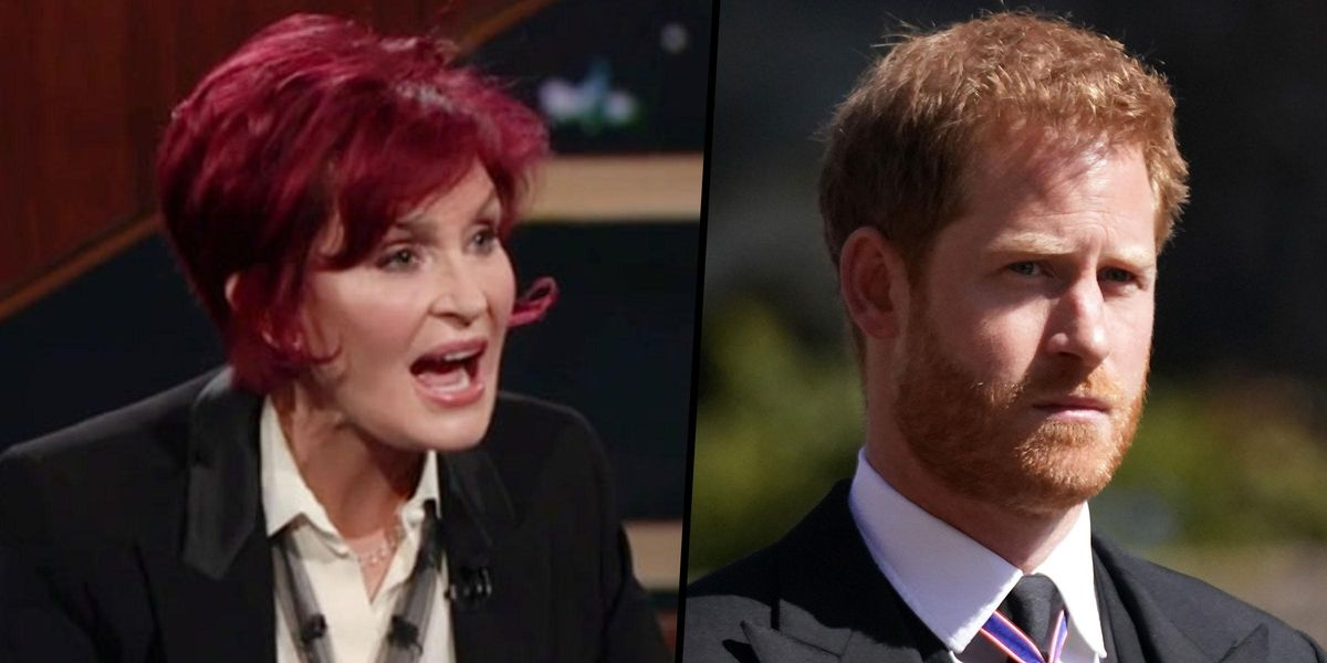 Sharon Osbourne Blasts Prince Harry and Calls Him the 'Poster Boy' of White Privilege