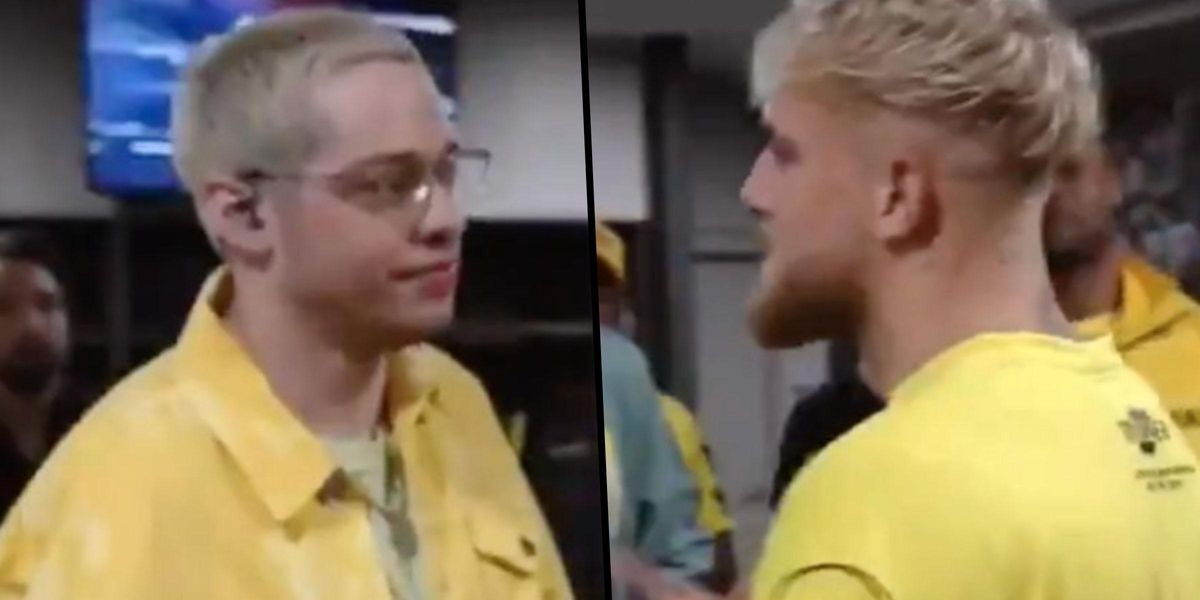 Pete Davidson Called Out Jake Paul's Assault Allegations to His Face