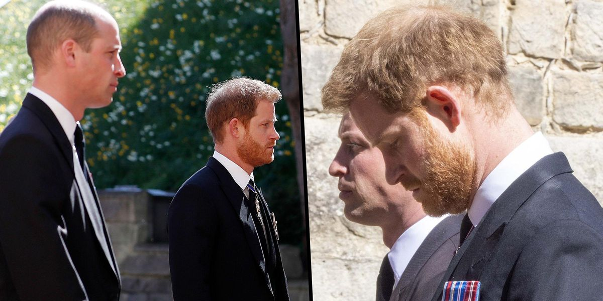 Lip Reader Reveals Prince Harry's Poignant Comment to William at Prince Philip's Funeral
