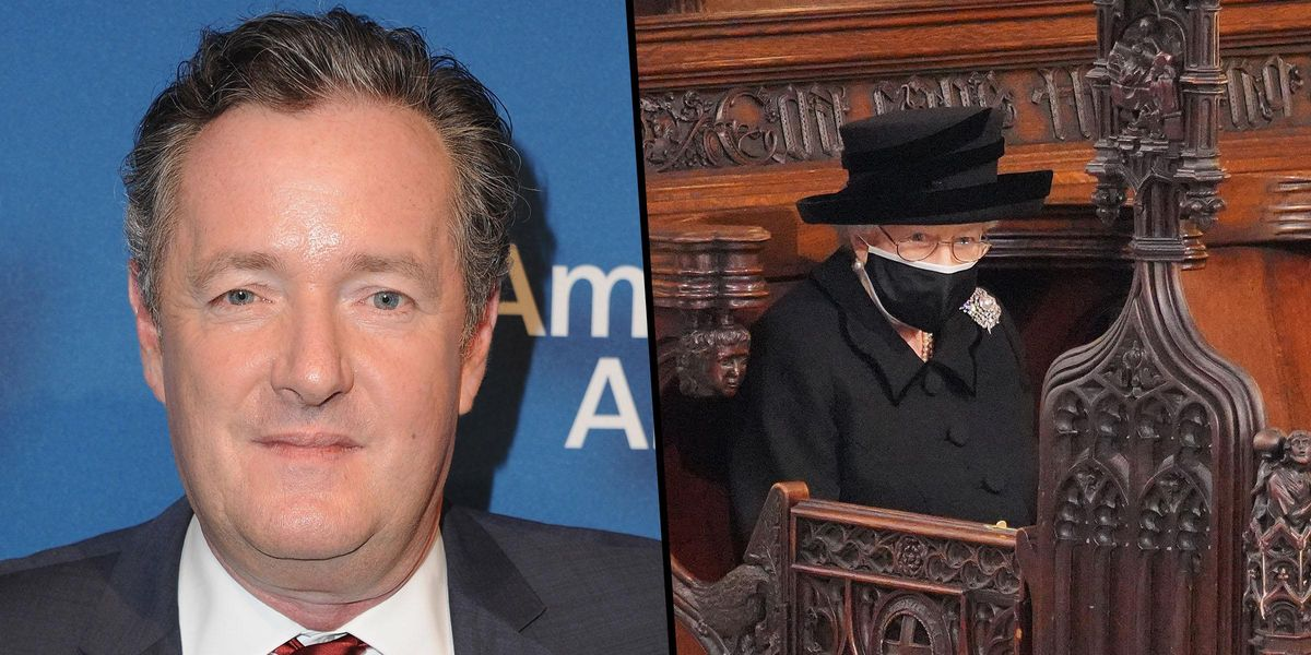 Piers Morgan Asks If There Is a Worse Photo Than the Queen Sat On Her Own At Philip's Funeral