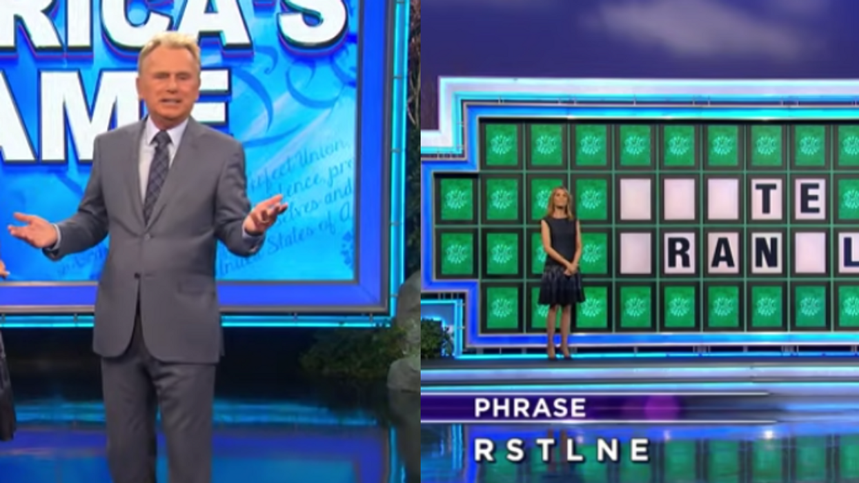 Pat Sajak Accidentally Says 'Wheel Of Fortune' Bonus Round Puzzle's Answer—But Contestant Doesn't Even Notice