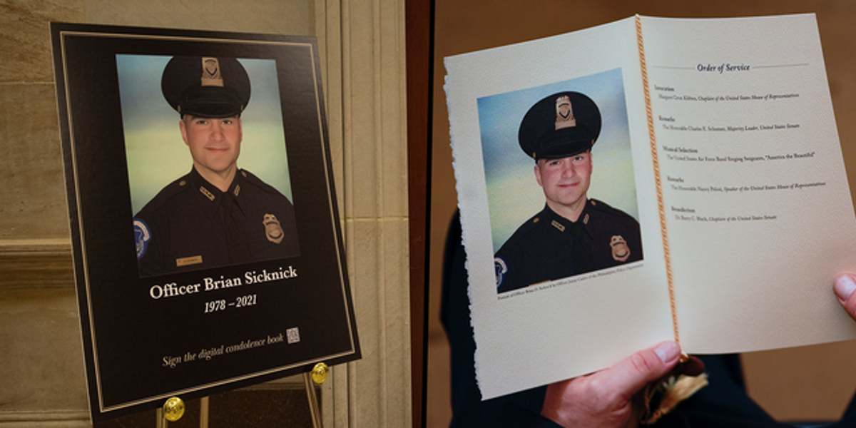 Capitol Police Officer's Cause Of Death Confirmed