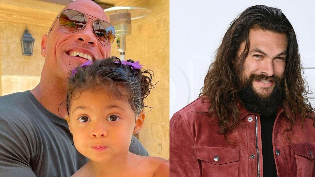 The Rock's 3-Year-Old Daughter Wanted Aquaman At Her Birthday—And Jason Momoa Adorably Delivered