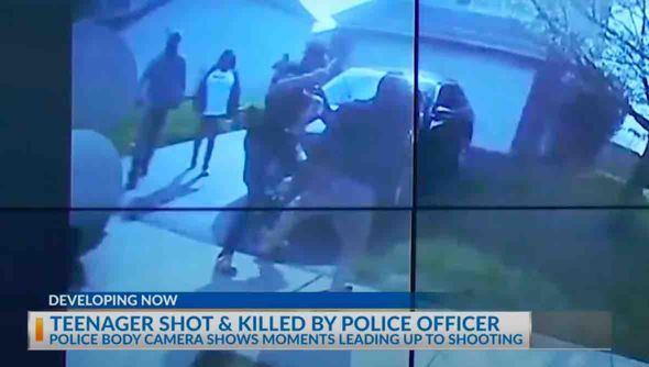 Teen girl swung knife at two people before police fatally shot her, bodycam video shows
