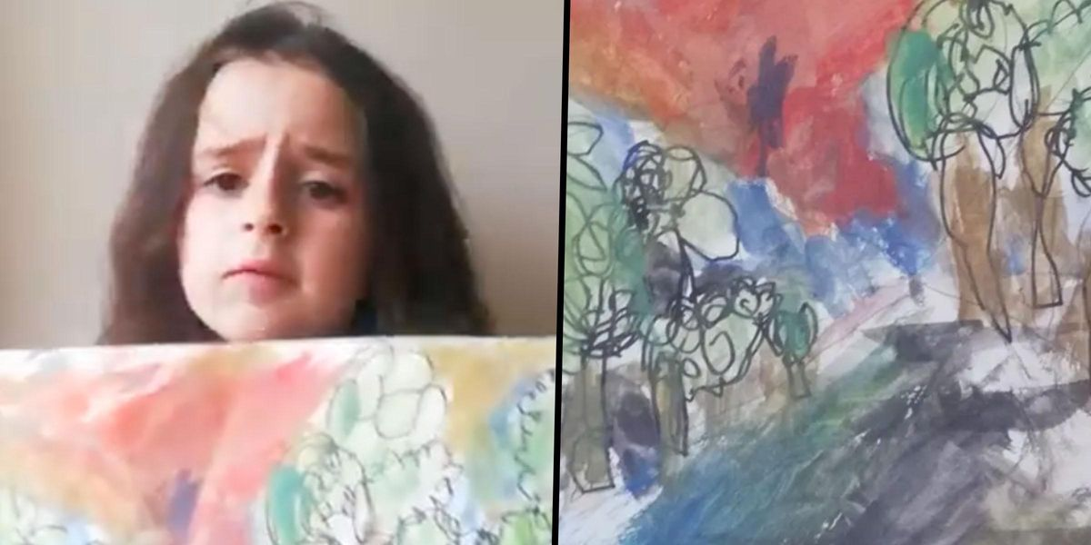 6-Year-Old Told by Teacher Her Painting Was Wrong, Twitter Disagrees