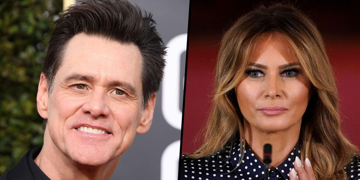 Jim Carrey Divides the Internet With Savage Painting Of Melania Trump