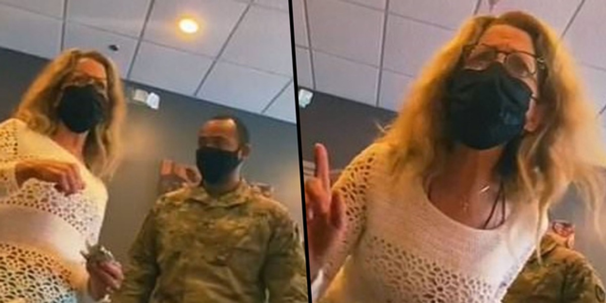 White Woman Goes On Racist Rant As She Accuses Black Soldiers on Stealing Money at IHOP