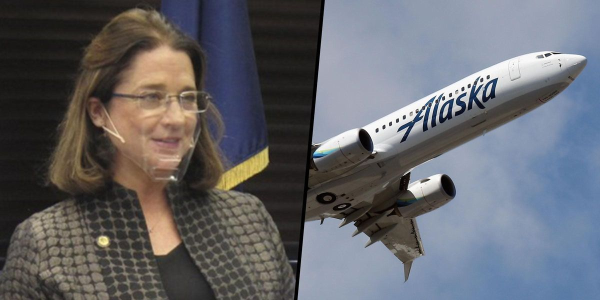 Alaska Airlines Bans State Senator for 'Continued Refusal' To Follow Mask Rules