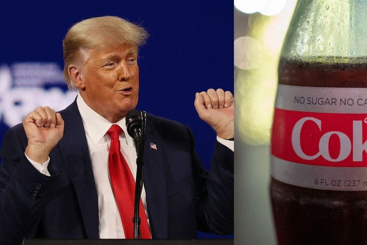Diet Coke-Loving Trump Calls For Boycott Of Coca-Cola Despite Railing Against 'Cancel Culture'