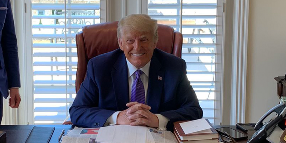 Donald Trump Called Out for Trying To Hide a Coke Bottle the Day After Boycotting Coca-Cola