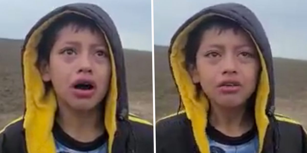 Heartbreaking Video Shows Abandoned Migrant Boy Approaching U.S. Border Patrol Officer for Help