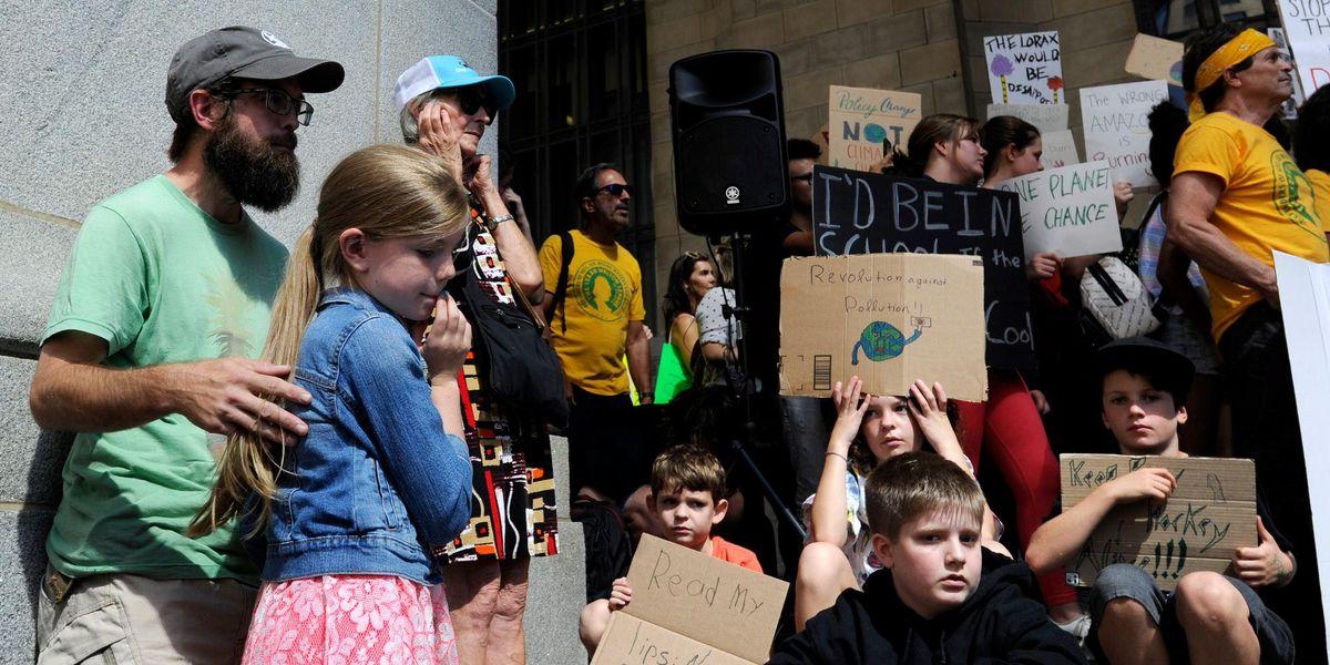 children climate change strike