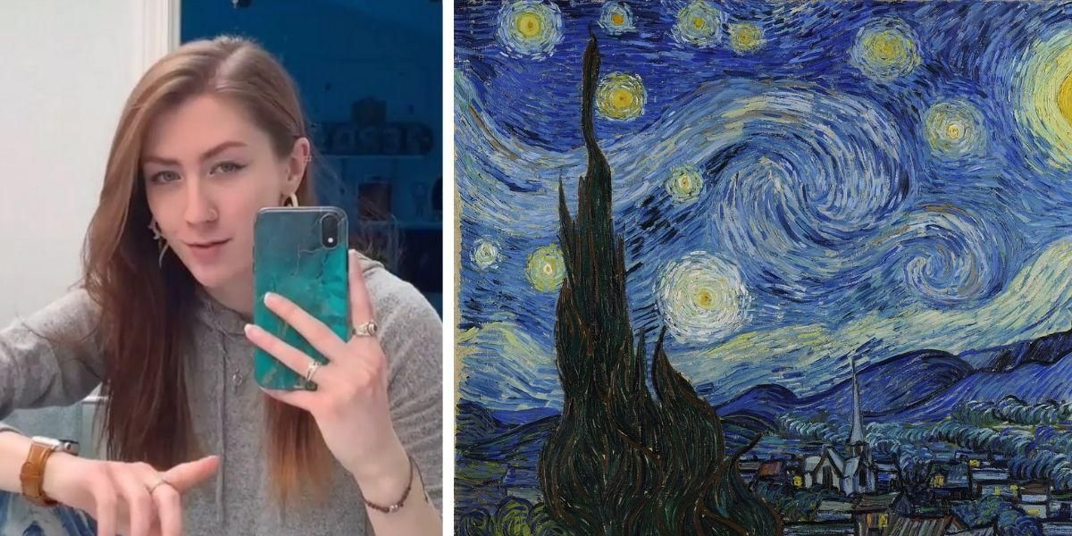TikToker Makes Van Gogh's Starry Night 'Come To Life' With Incredible Optical Illusion