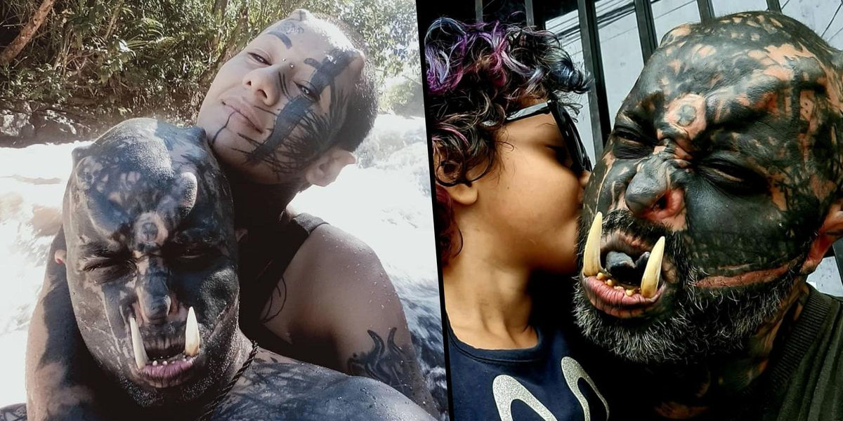 Tattooed Dad Turns Himself Into Orc From 'Lord of the Rings'