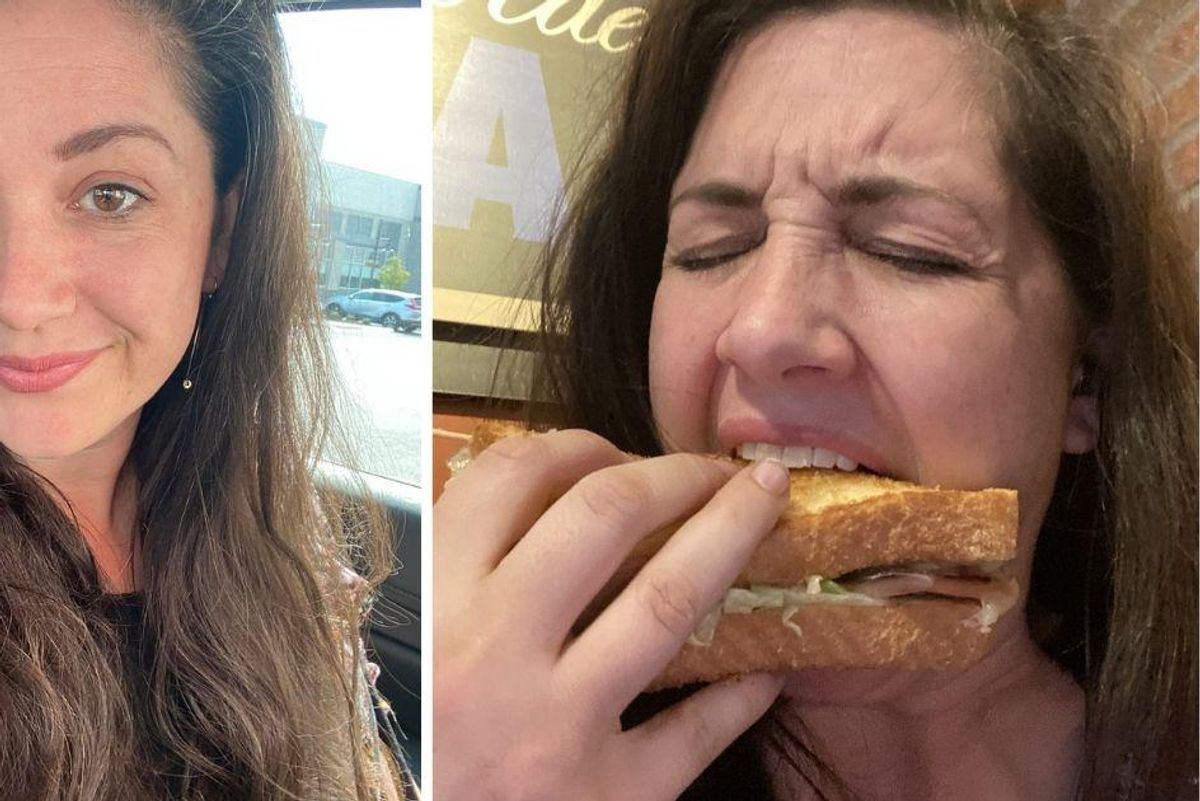 Writer uses a bologna sandwich to illustrate the beauty battle women wage with themselves