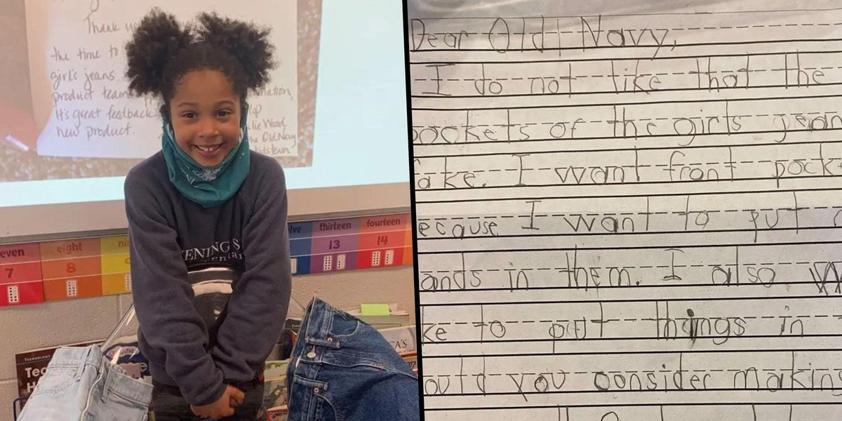 Old Navy Responds To First Grader Asking For Girls' Jeans To Have Real Pockets