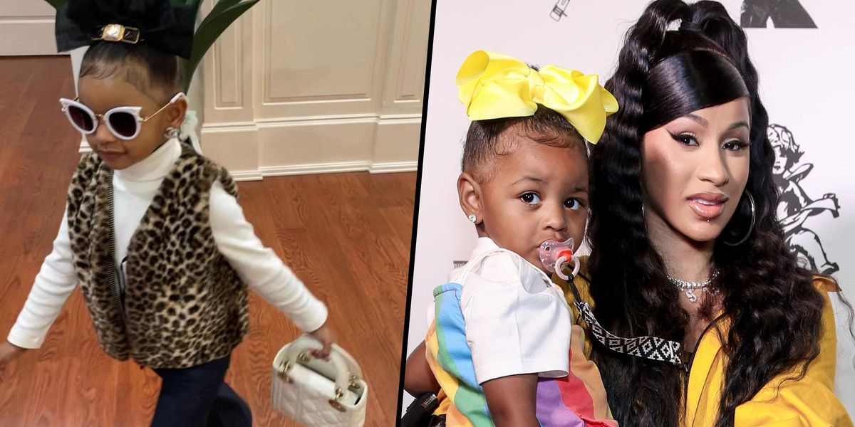 Cardi B's Daughter Kulture Poses With Her New $4,212 Dior Handbag