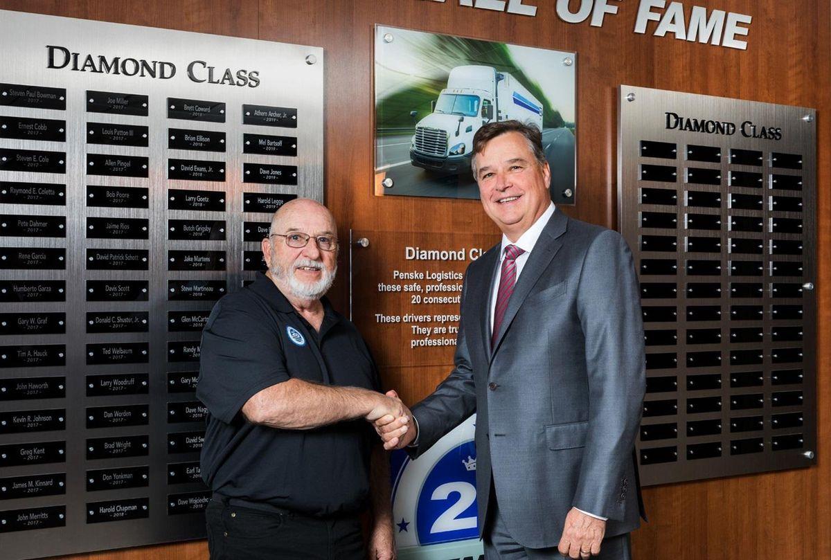 Penske Logistics driver wall of fame