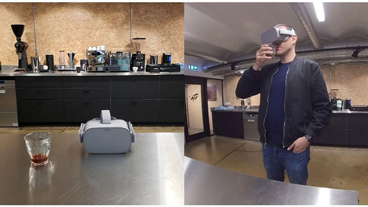 VR experiments manipulate how people feel about coffee