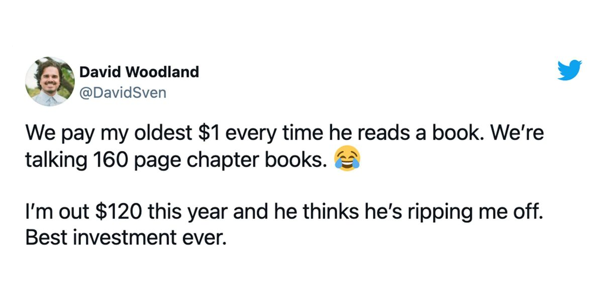 Parents Are Divided Over Dad's Tactic of Paying His Son To Get Him To Read