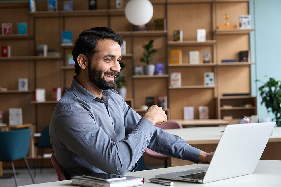 Man works remotely in a flexible career field
