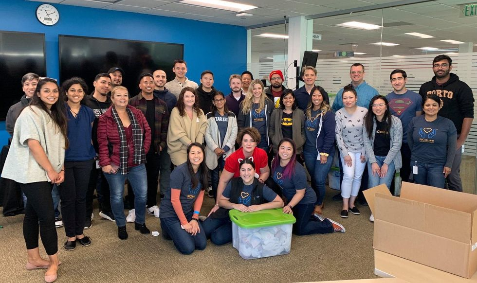 RingCentral employees take part in a community service project.