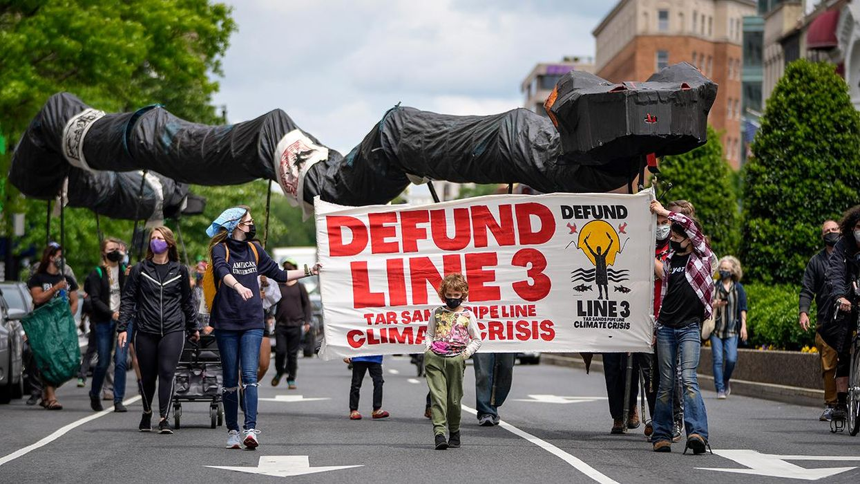Climate and Indigenous Protesters Across 4 Continents Pressure Banks to #DefundLine3