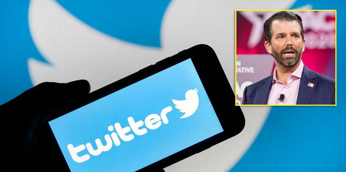 Twitter accused of pushing Soviet-style spin after targeting Donald Trump Jr.'s anti-Biden tweet