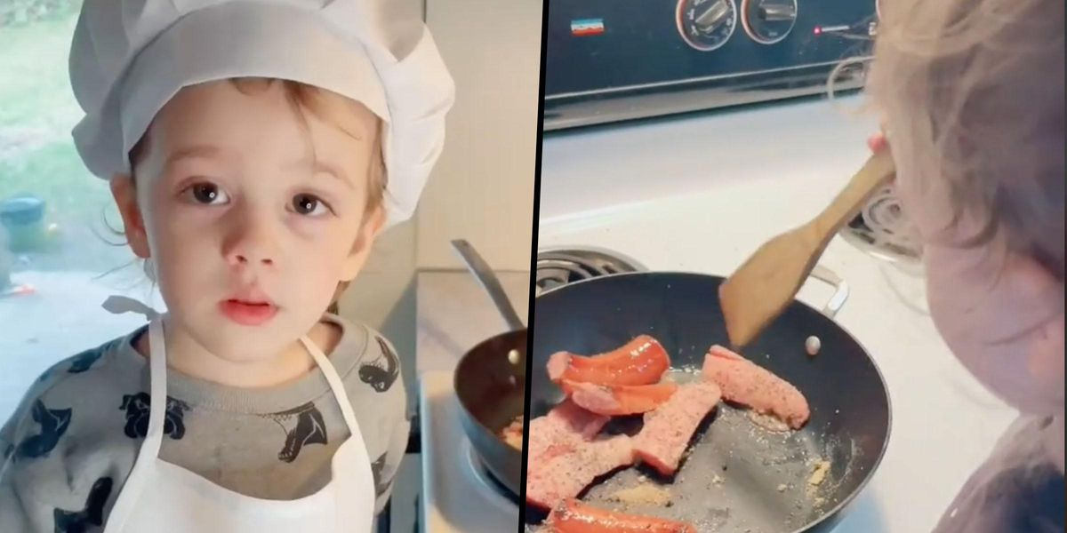 Mom Called 'Irresponsible' for Letting Her Toddler Cook Dinner