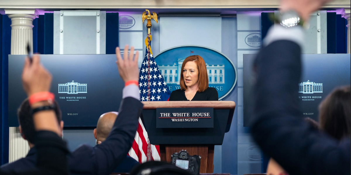 Jen Psaki Gently Bombs Pat Robertson's 'White House Correspondent'
