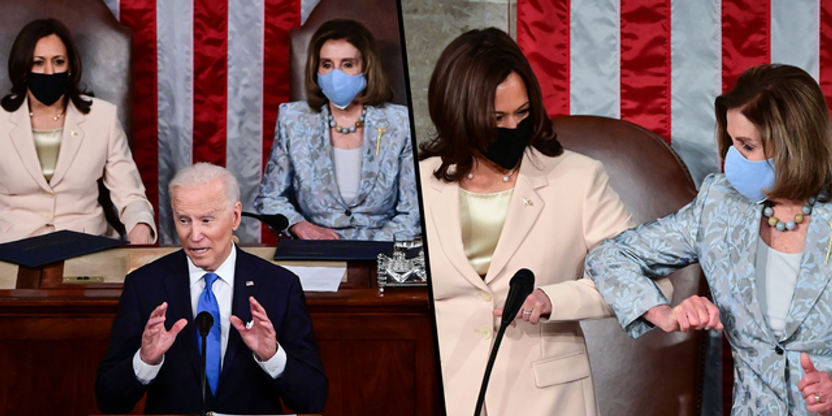 For the First Time in History, Two Women Sat Behind a President for a Speech to Congress