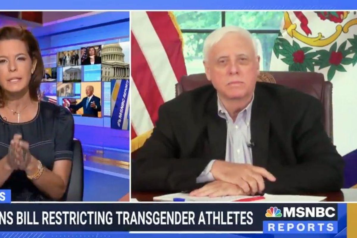 MSNBC host pushed West Virginia governor to defend anti-trans bill with evidence. He couldn't.