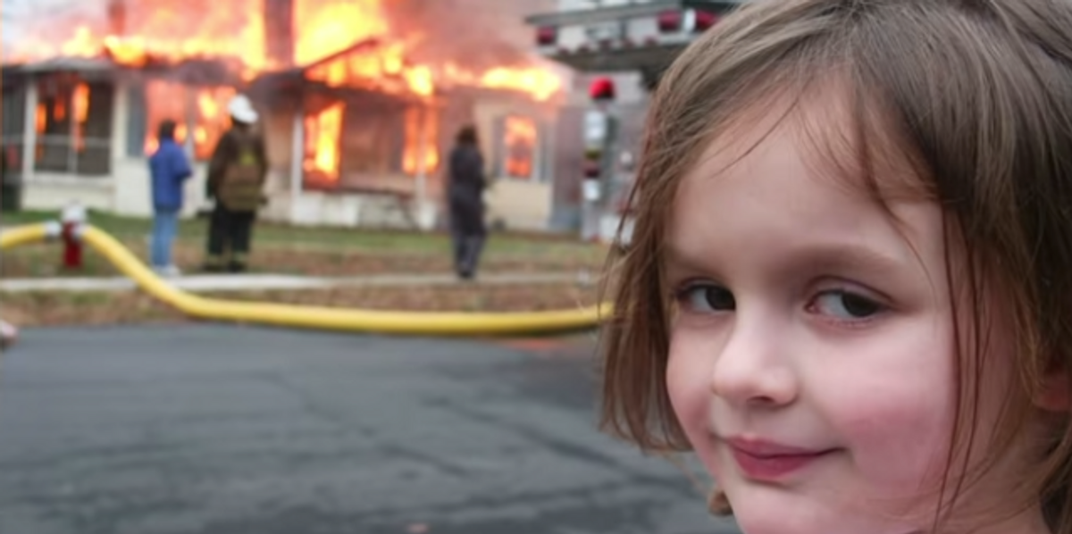 'Disaster Girl' Meme Sells For $500K as an NFT