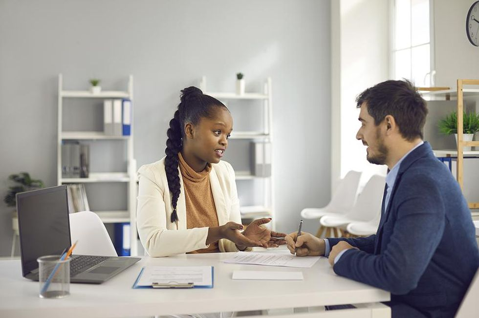 Hiring manager offers the job to a job candidate