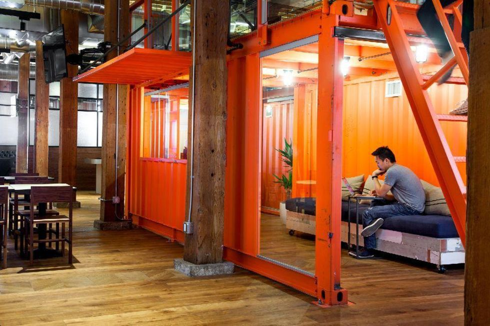A GitHub employee works in a quiet workplace.