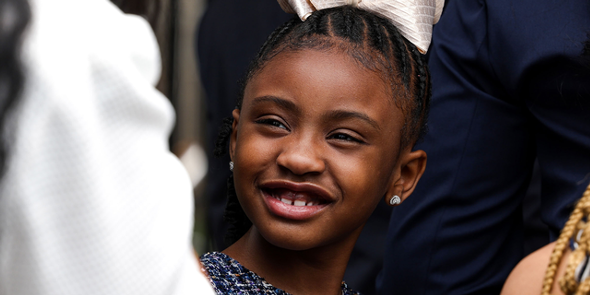 George Floyd's Daughter, 7, Chants 'Say His Name' Outside White House on First Anniversary of Dad's Murder