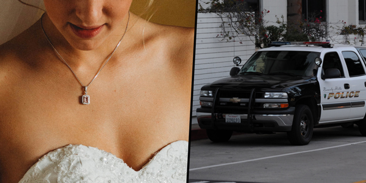 Bride Furious When Cops Show Up at Her Wedding To Retrieve the Necklace She Stole From Her Stepsister