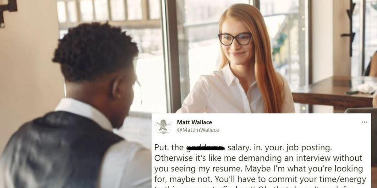 Everyone agrees with this guy's rant about job postings that don't mention how much they pay
