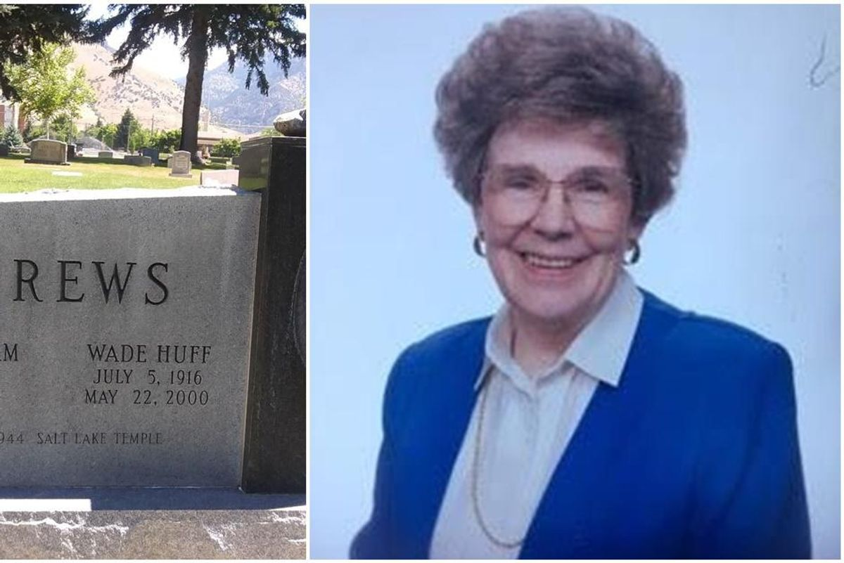 Headstone for a woman who died at 97 includes her signature fudge recipe