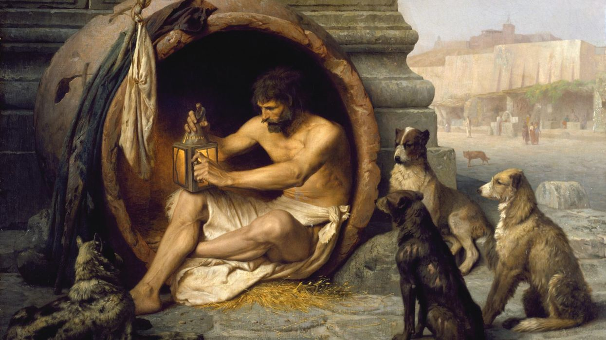 Twisted humor and life advice from Diogenes the Cynic