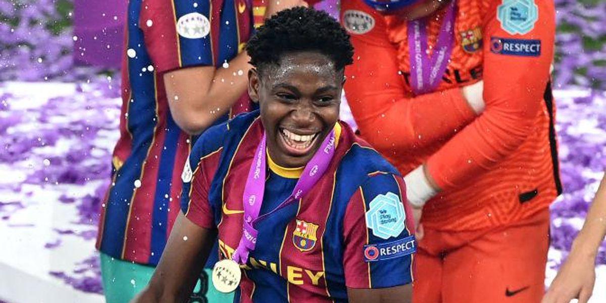 Nigerian Footballer Asisat Oshoala Dedicates Her Historic UEFA League Cup Win To Young African Girls