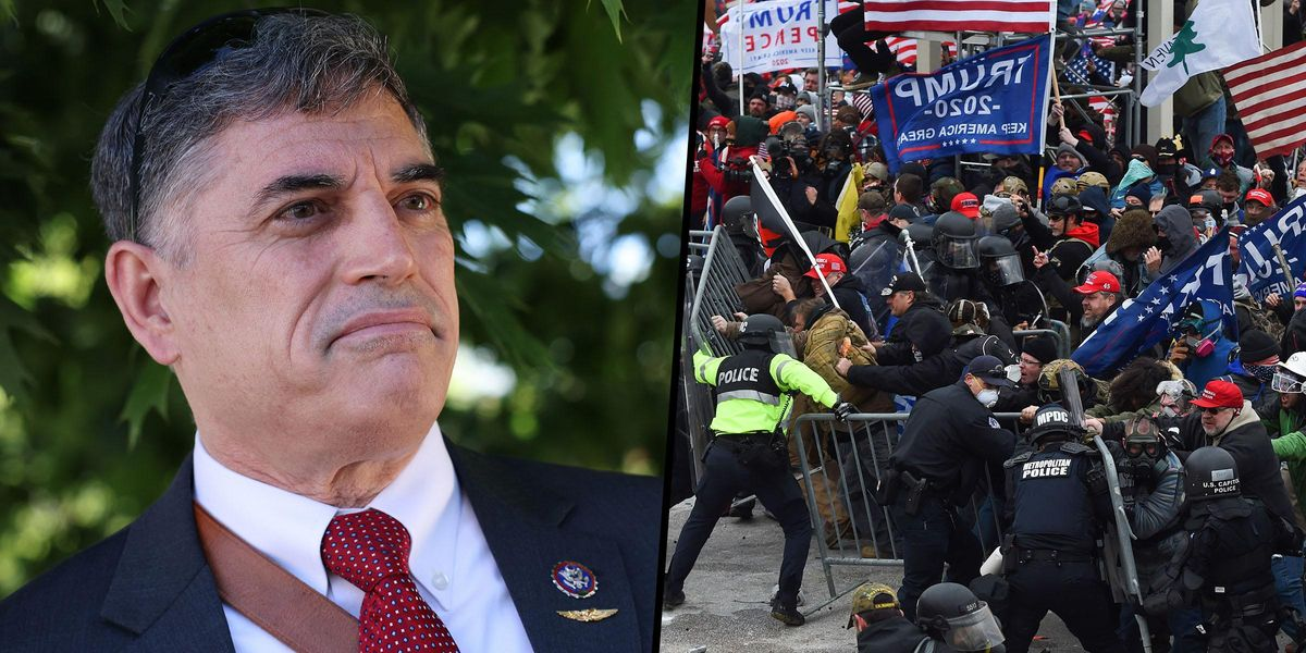 Congressman Who Denied Insurrection Was Photographed Barricading Doors Against Rioters