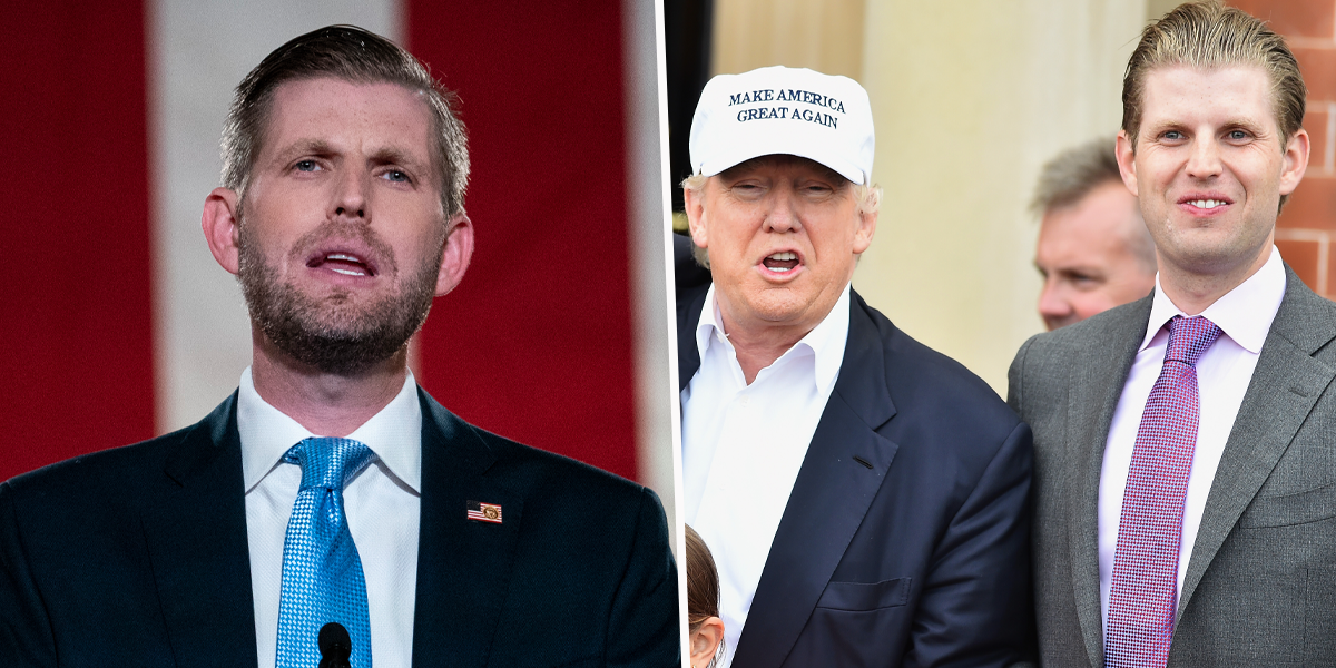 Eric Trump Claims Tearful People Keep Hugging Him and Saying They 'Miss His Dad'