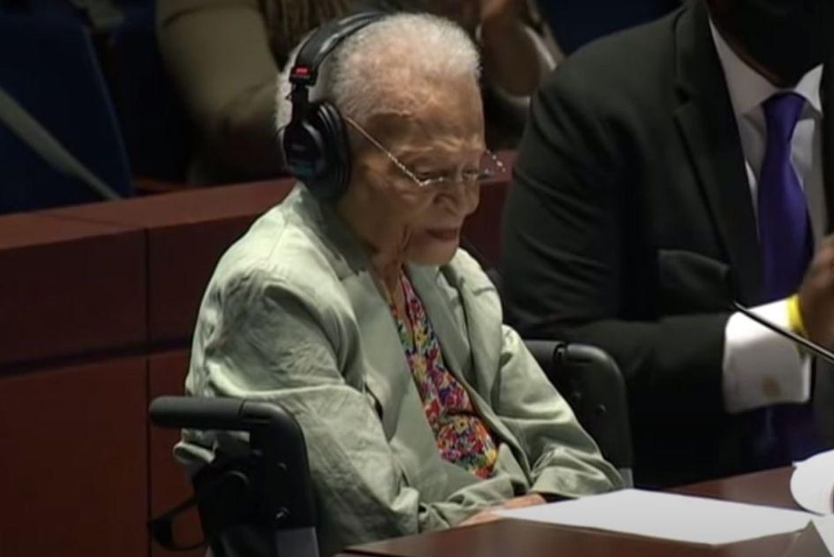 A 107-yr-old witness to the Tulsa Race Massacre just gave a powerful testimony to Congress
