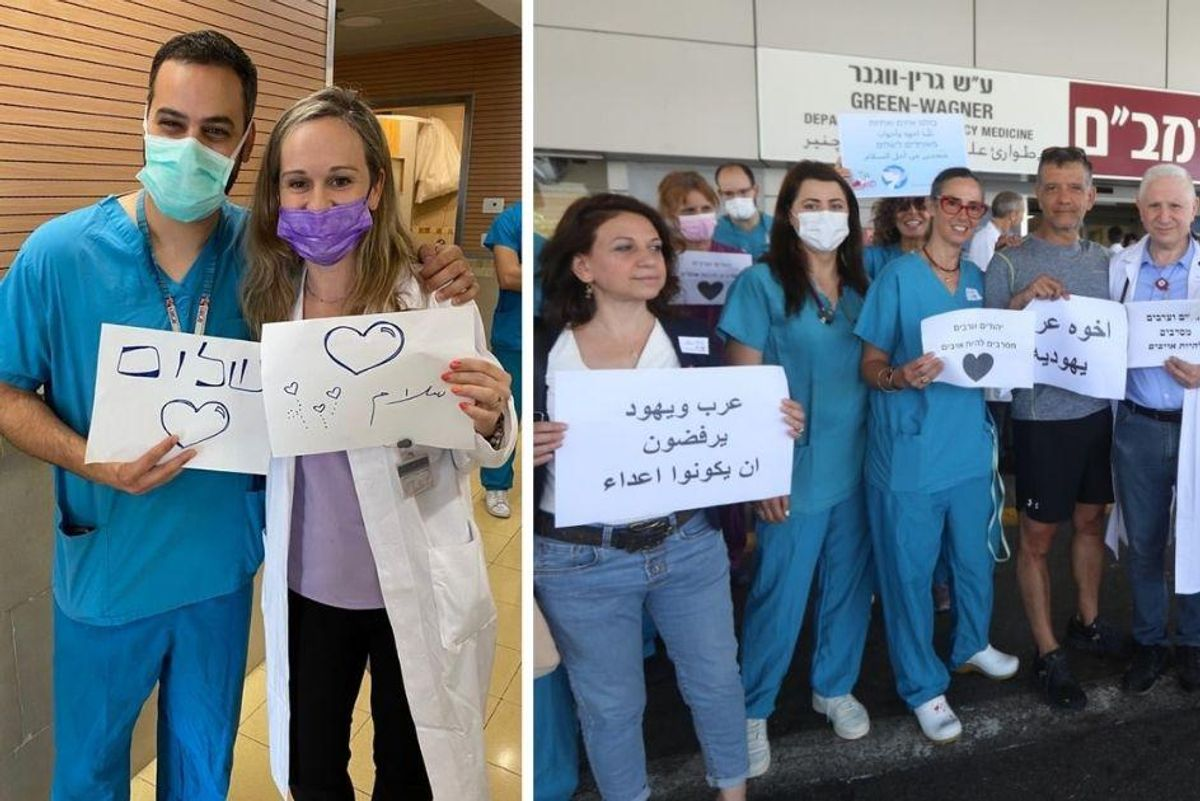Arab and Jewish medical staff in Israel unite to remind the world they are not enemies