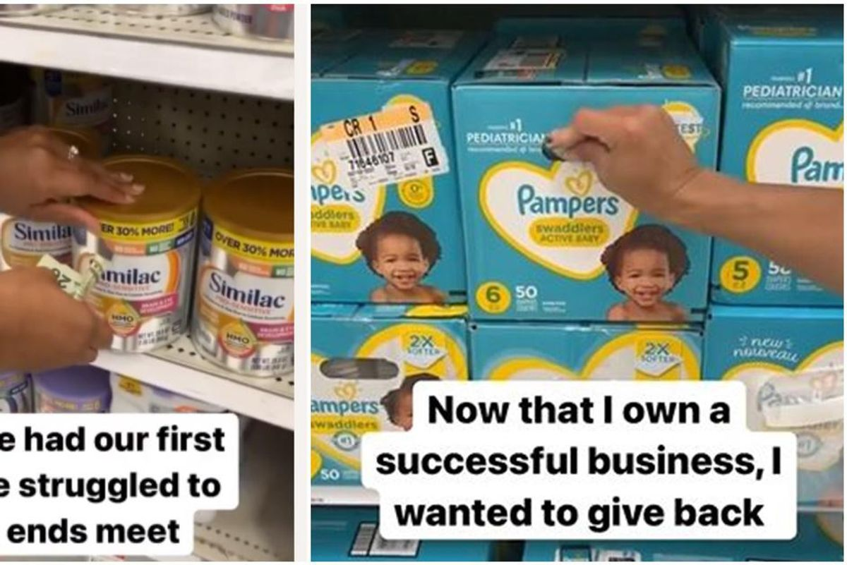 Grateful mom shares video of hiding surprise cash in diaper boxes and formula cans at Target