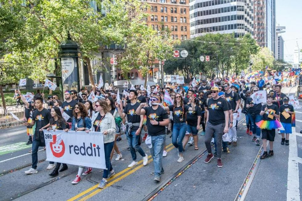 Reddit employees take part in Pride Day events.