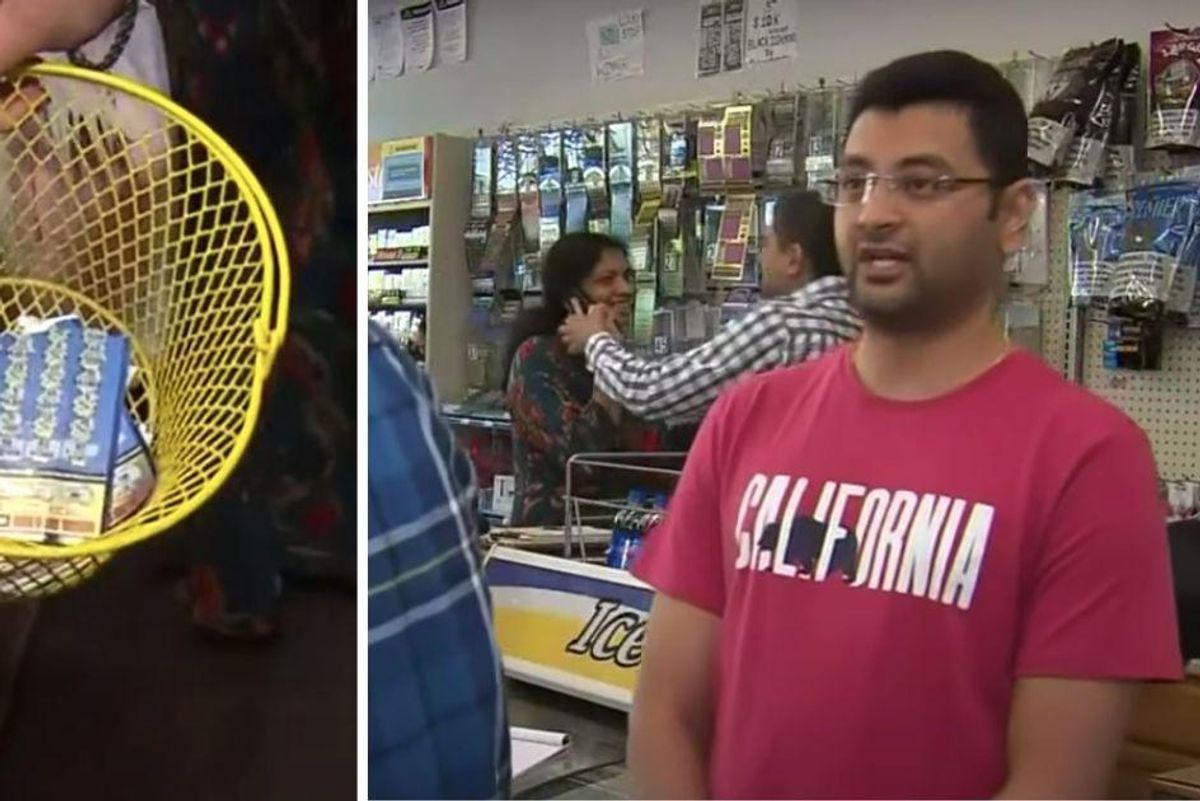 A woman threw out a $1 million lottery ticket. These honest store owners returned it to her.